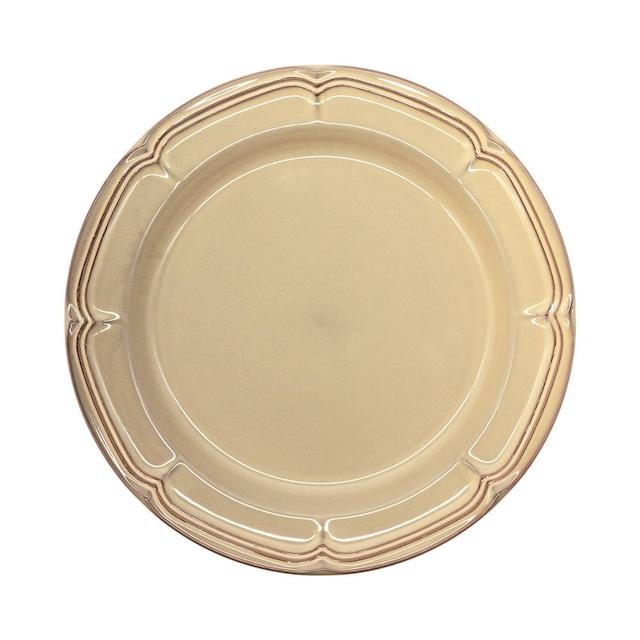 Koyo ラフィネ リムプレート 皿 約23.5cm シナモンベージュ 15922104
