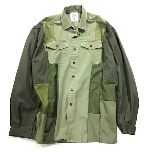 【Lsize】 REMAKE  MILITARY SHIRTS ミリタリーシャツ【Shirts48】
