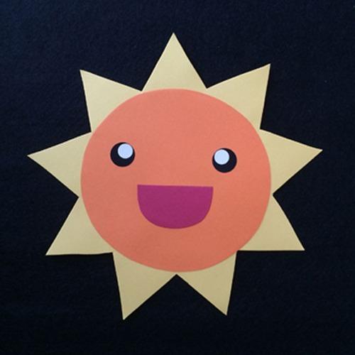 太陽(オレンジ)の壁面装飾
