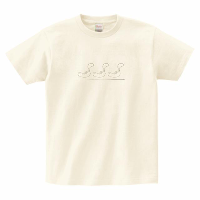Tシャツ/シマリスイラスト②/アイボリー/TS-SM-002I