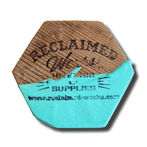 Reclaimed iphone Coaster / Dipped Paint & Splatter