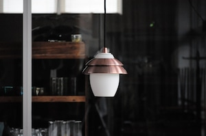 Vintage Small Glass Hanging Lamp
