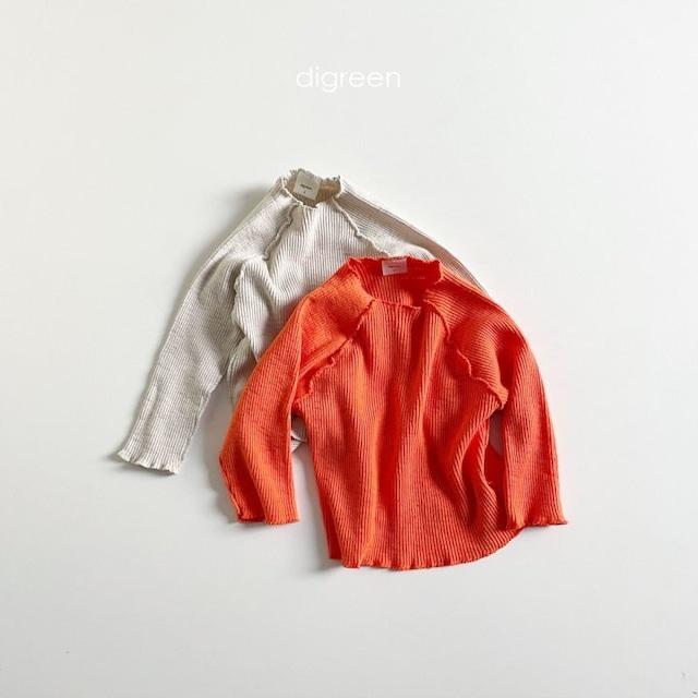 dgreen ( ディグリーン)Carrot T-shirt  リブカットソー
