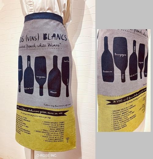 ギャルソン エプロン  ワインボトル (白ワイン)  Tissage Moutet/PATRICK LEBAS(パトリック・レオン)