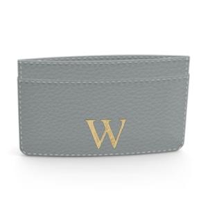 Premium Shrink Leather Card Case (Ice Grey)