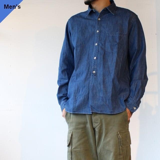 Orgueil デニムワークシャツ Denim Work Shirt  OR-5051B インディゴ
