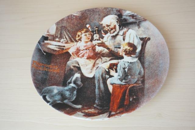 ノーマンロックウェル 絵皿(114-21)