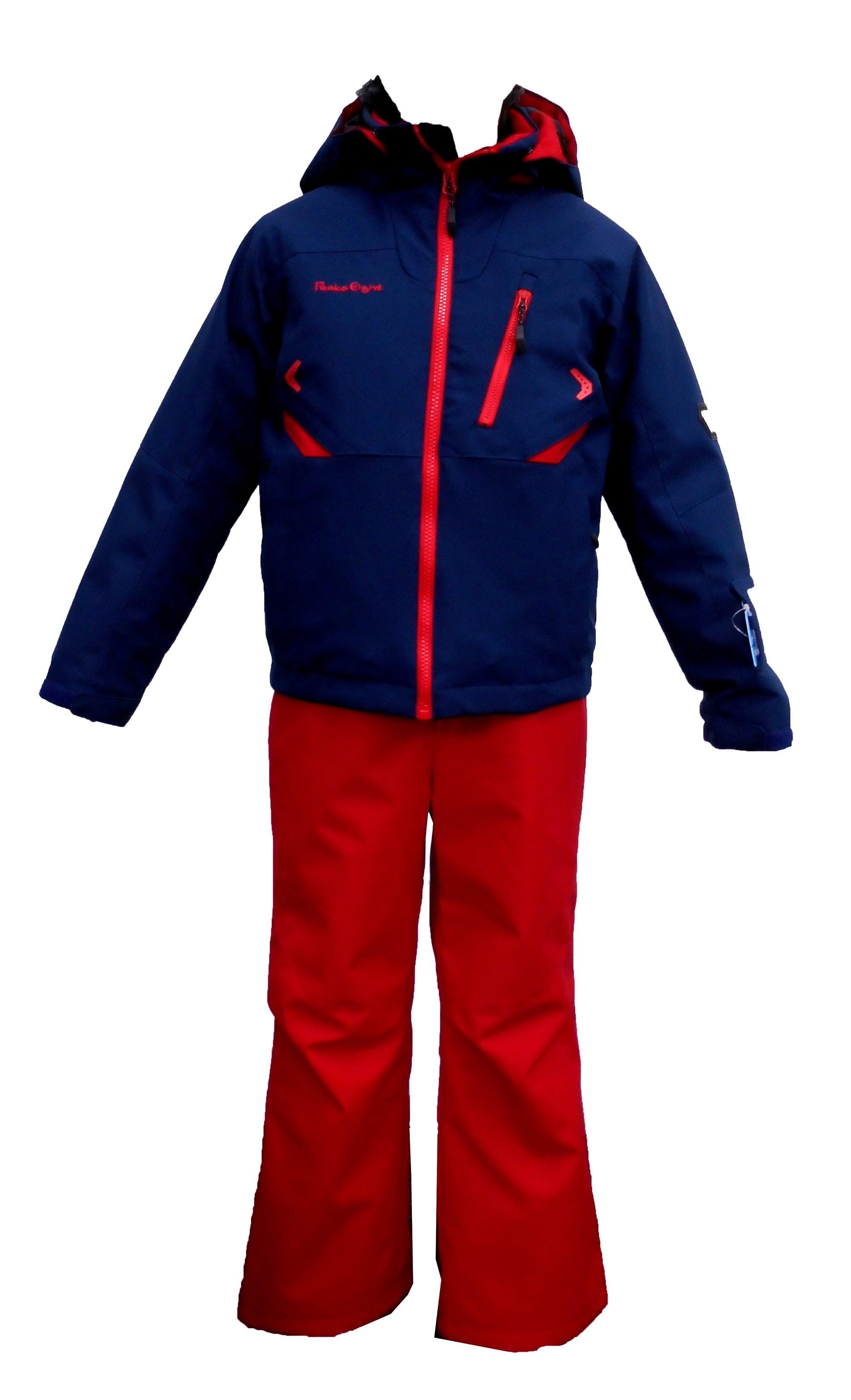 P8182P01 子供スキースーツ(組み合わせ自由 ジャケット:ネイビー or レッド、パンツ:レッド or ネイビー)