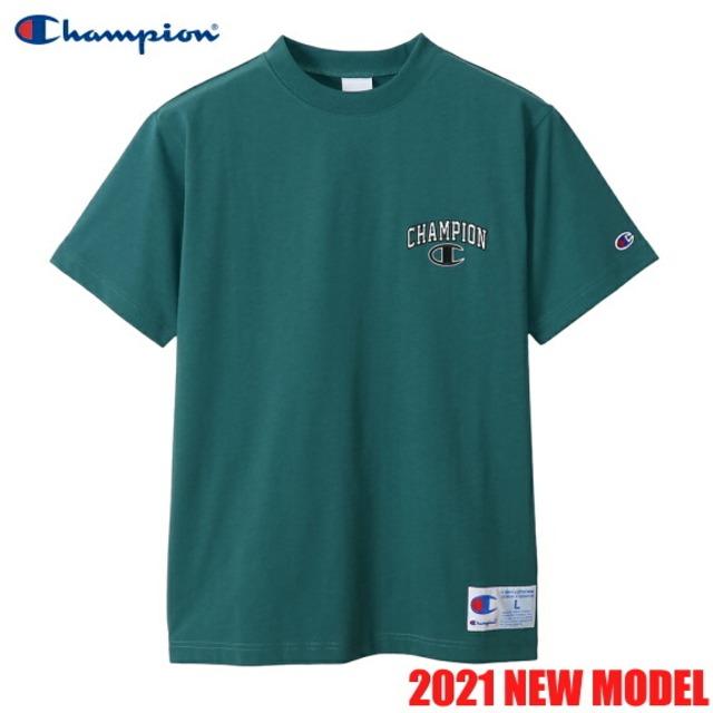 チャンピオン 半袖 Tシャツ クルーネック アクションスタイル メンズ CHAMPION 正規販売店 C3-T349 ダークグリーン