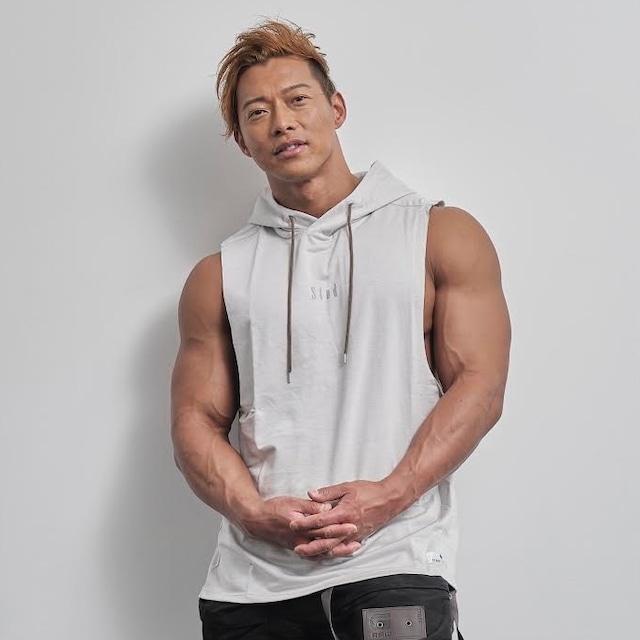 sleeveless hoodie   (ICE GRAY)