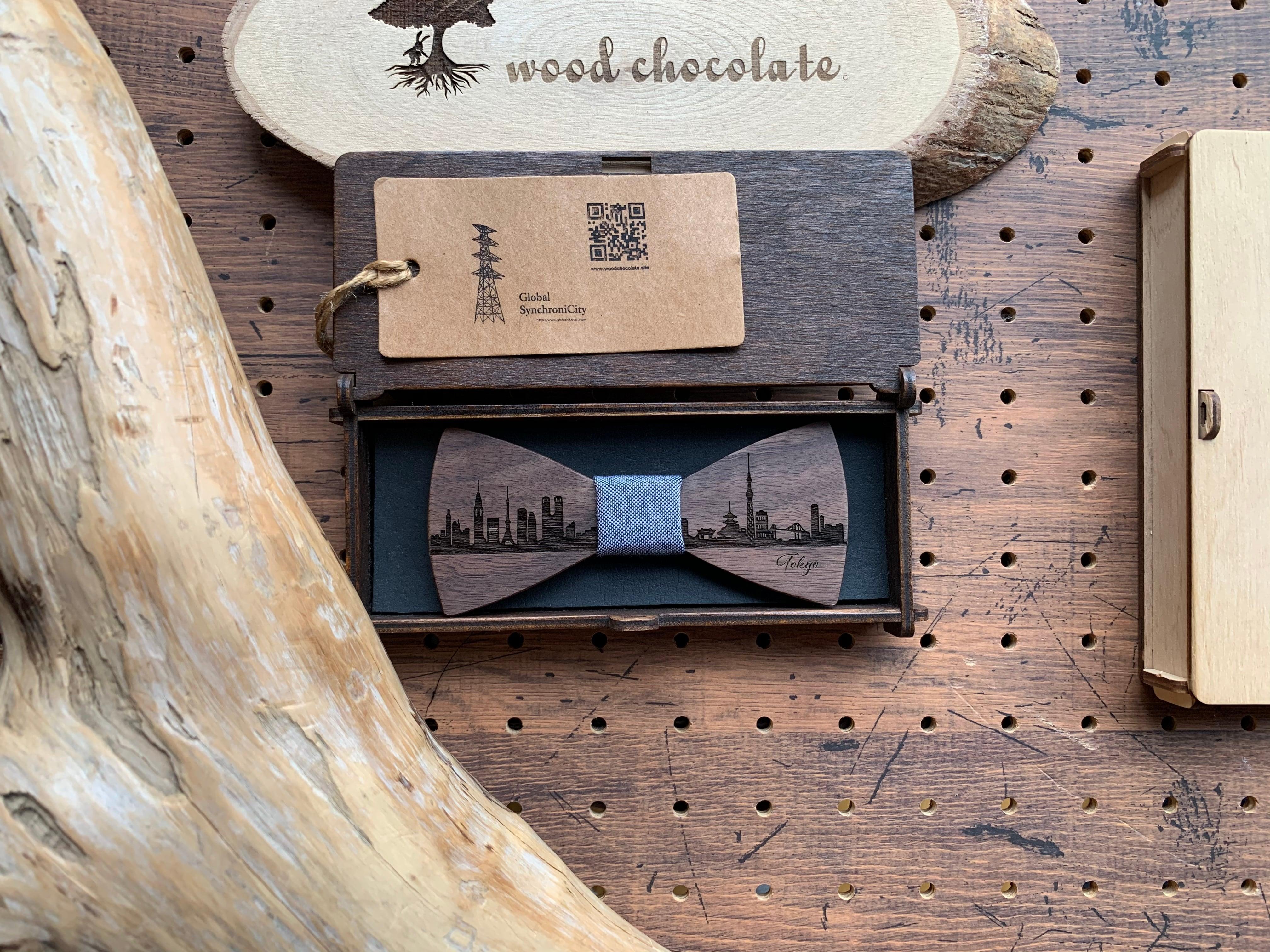 「東京の街並み」木製 蝶ネクタイ #CityContrast TOKYO - 画像5