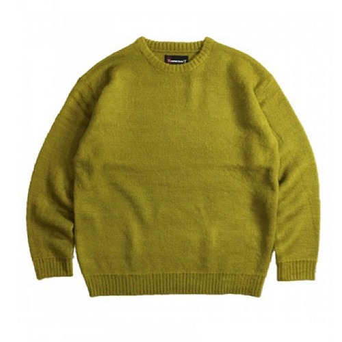 TOWNCRAFT(SHAGGY SOLID CREW-NECK SWEATER)