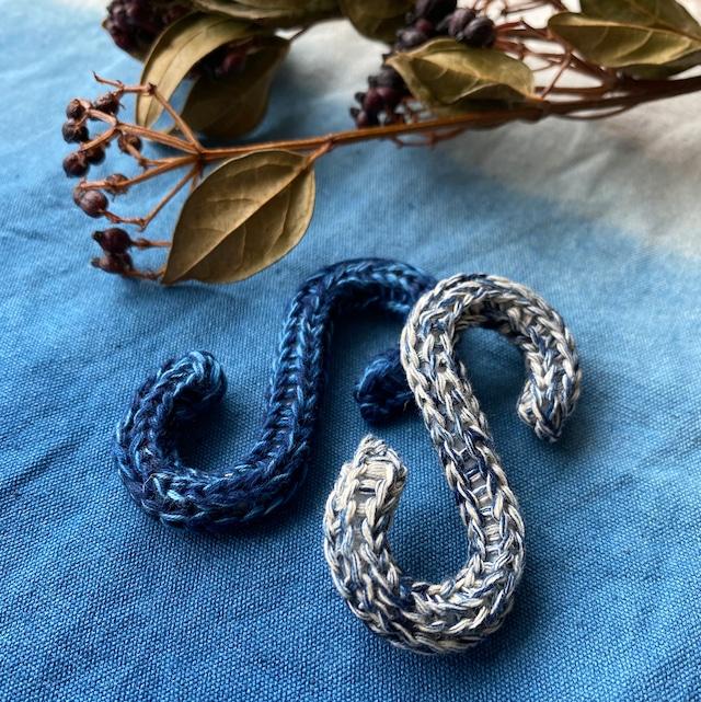 藍染めCrochet S字フック 6個セット