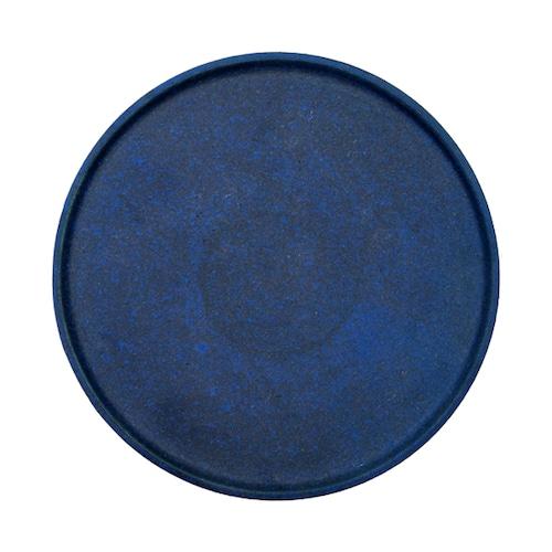 若狹祐介 フチタチ皿21cm 藍香
