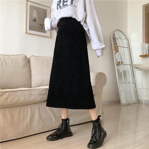 コーデュロイAラインスカート #RD7377