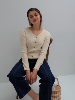 2way rib knit(ivory)
