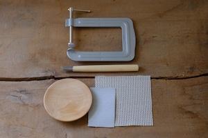 手づくりキット【はじめてセット】木のお皿φ13cm