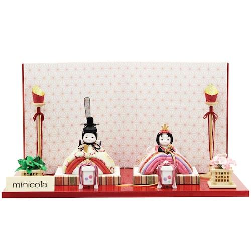 木目込 雛人形 みにこら「仁湖」 (クーポンをご利用ください。)