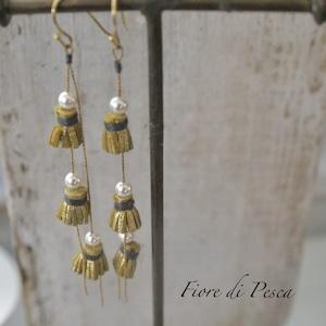 Tiny Tassel Pierce (Earing) pearl