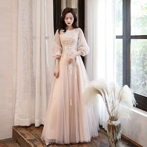 イブニングドレス カラードレス ロングドレス 結婚式二次会 発表会 披露宴 演奏会 大きいサイズ  小さいサイズ 8016