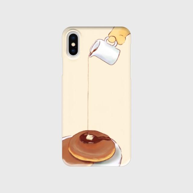 パンケーキと犬iPhoneケース(表面印刷)