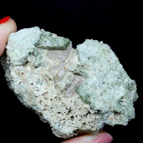 ダイオプサイド + カルサイト 透輝石 アラスカ産  99,9g DPT023 原石 鉱物 天然石 パワーストーン