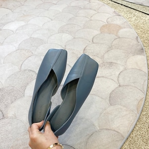 French  square design shoes(フレンチスクエアデザインシューズ) a-859