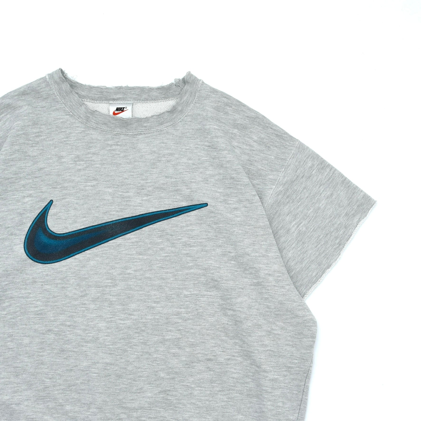 90's OLD NIKE cutoff sleeves sweatshirt