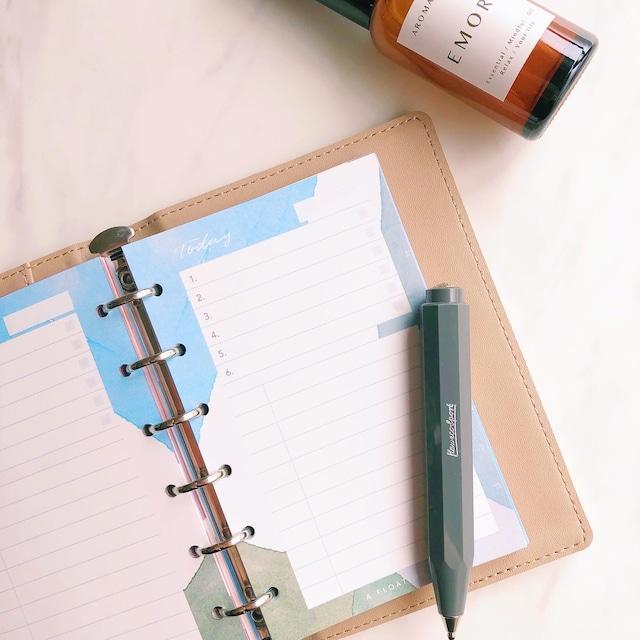 【NEW】デイリー計画 / ミニ6 / オーシャン(システム手帳リフィル)