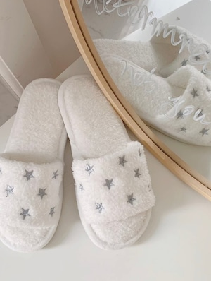 Star Embroidery Slippers