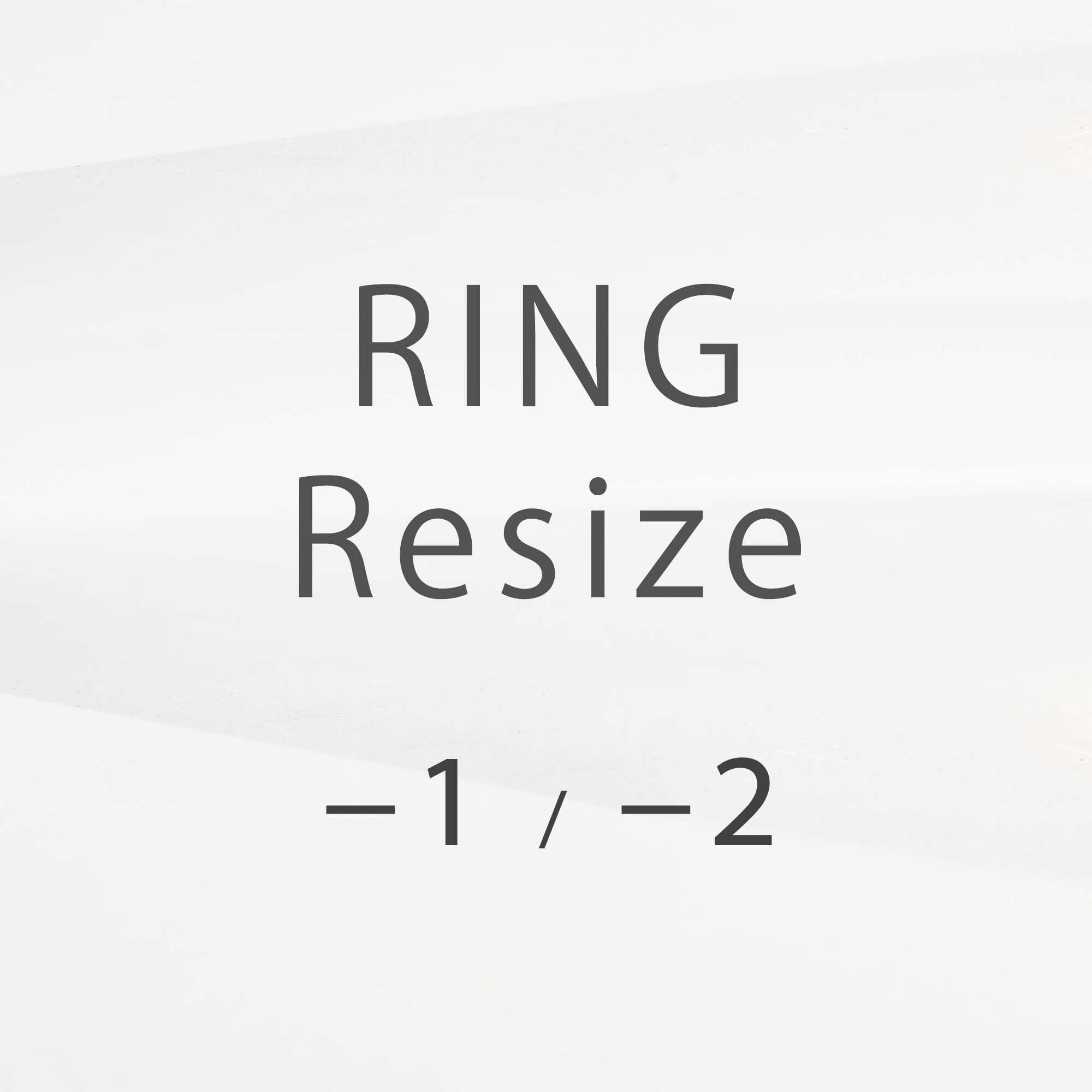 【リングサイズ変更 DOWN】(−1号、−2号)