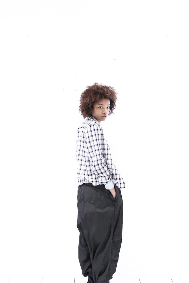 Vintage short length check jacket