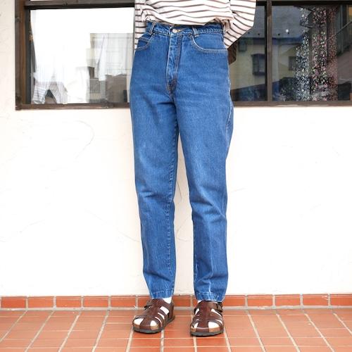 【USED】 90s テーパード デニム パンツ センタープレス