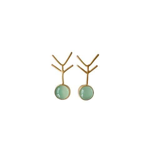 'tree' pierced earrings