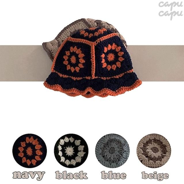 «即納» knit bucket hat  ニットバケットハット