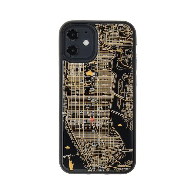 FLASH NY回路地図 iPhone 12 mini ケース  黒【東京回路線図A5クリアファイルをプレゼント】