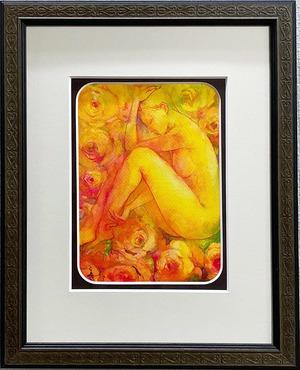 大口満・大島画廊コラボ額装 『薔薇の香』
