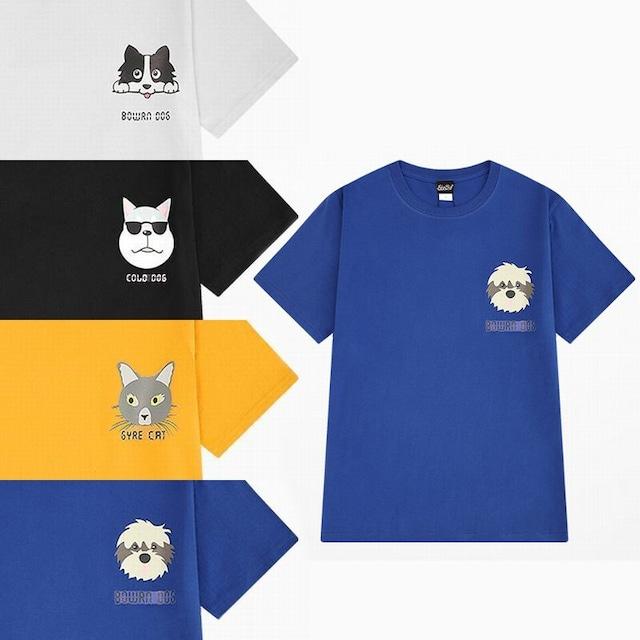 ユニセックス 半袖 Tシャツ メンズ レディース 犬 ネコ プリント オーバーサイズ 大きいサイズ ルーズ ストリート TBN-590057805441