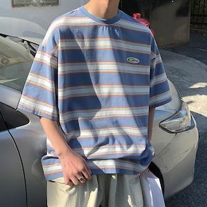 ワンポイントボーダーTシャツ YH1652