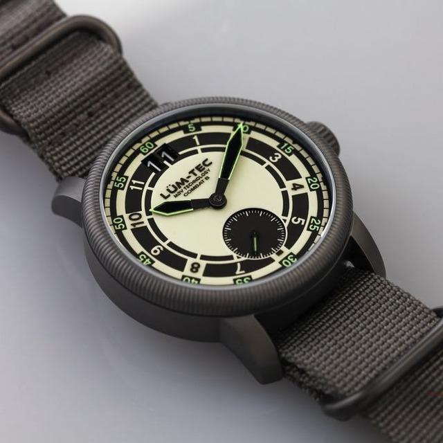 【世界限定500本】COMBAT B47 MAX LUM コンバット ロンダ スイス製ムーブメント ビッグデイト/スモールセコンド ドーム風防 ミリタリーウォッチ ZULU/NATOストラップ メンズ 腕時計【LUM-TEC/ルミテック】