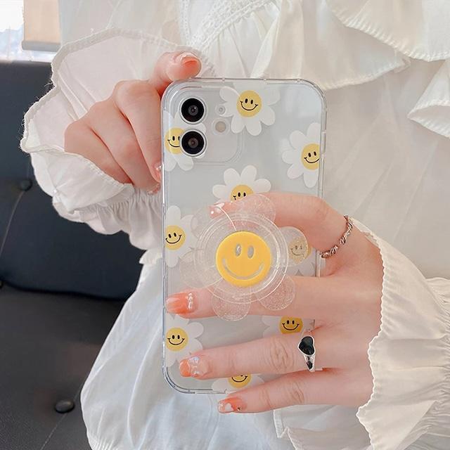 グリップ付♪ FLOWER FLOWER iphone case