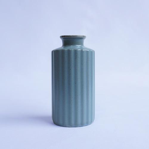 波佐見焼 花瓶~プリーツ~ブルー