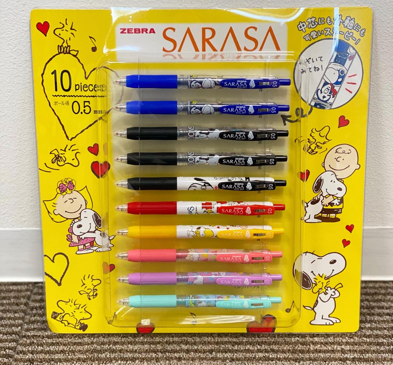 SARASA スヌーピー ボールペン 0.5mm