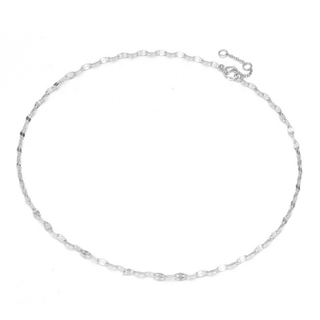 Lip-Shape-Chain-Link Necklace【SILVER】