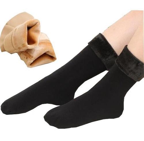 レディースファッション 裏起毛 靴下 3足セット ソックス あったか  ルームソックス 防寒 秋 冬 もこもこ ふわふわ ぬくぬく ふかふか ベージュ ブラック 黒 冷え性 女性用 くつした cw-a-4048