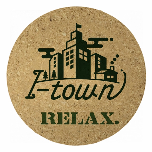 I-town ロゴ コルクコースター #Stay home