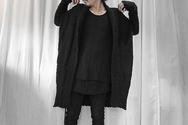 thom krom / Knit gown / BLK