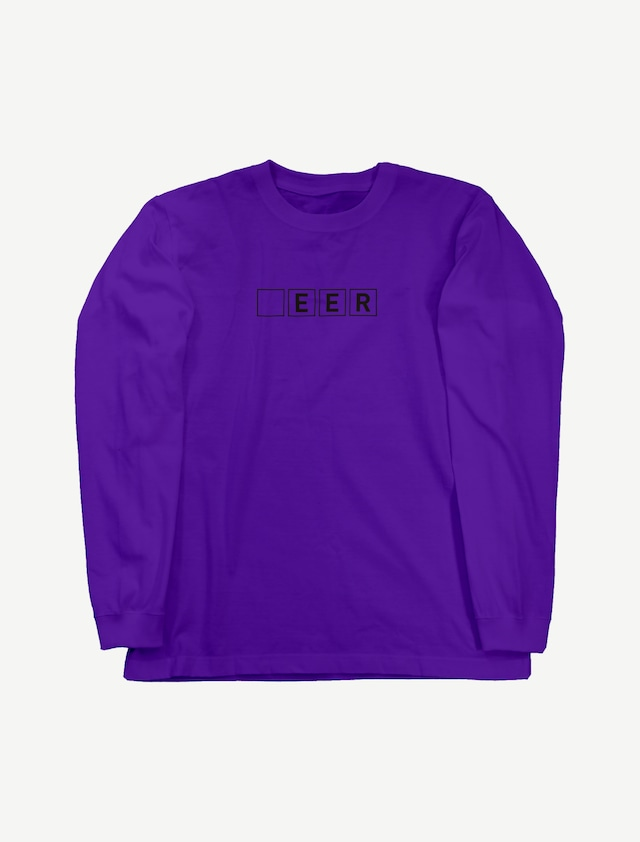 【□EER】ロングスリーブTシャツ(バイオレットパープル)