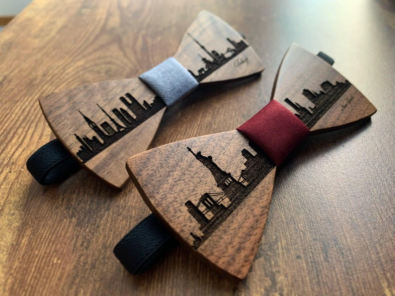「NYの街並み」木製 蝶ネクタイ #CityContrast NY - 画像5