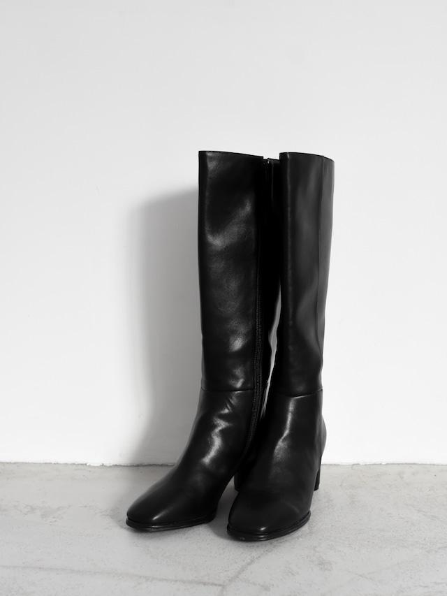 square toe long boots(black)